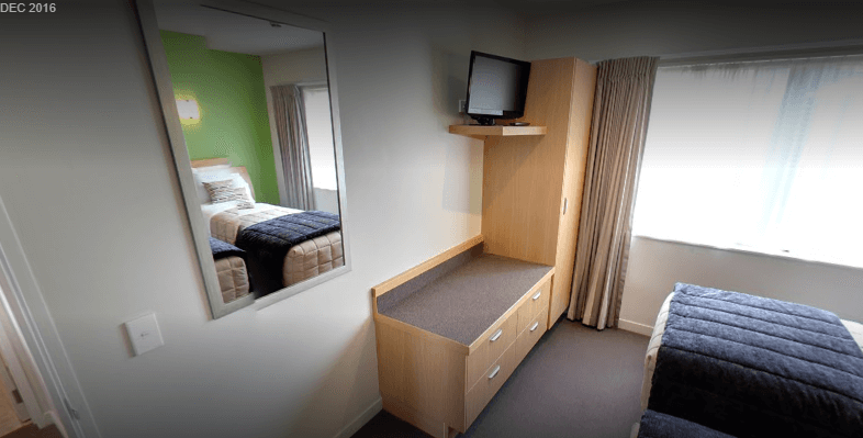 Single beds in separate room with own TV
