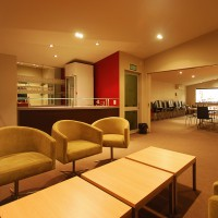 Conference room with separate lounge area