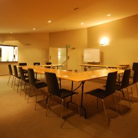 U-shaped/boardroom style seating configuration